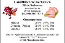 hofladen Landfleischerei Seehausen - Filiale Seehausen + Gaststätte